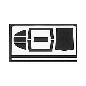 Masky kabiny Mig-29 1/72