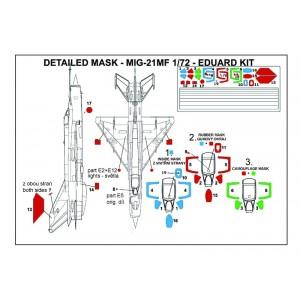 Masky Mig-21MF 1/72 Eduard kit