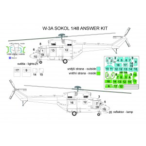 Masky W-3A Sokol 1/48 Answer Detailed