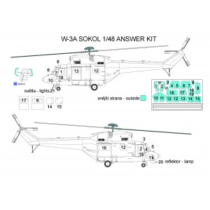 Masky W-3A Sokol 1/48 Answer Basic